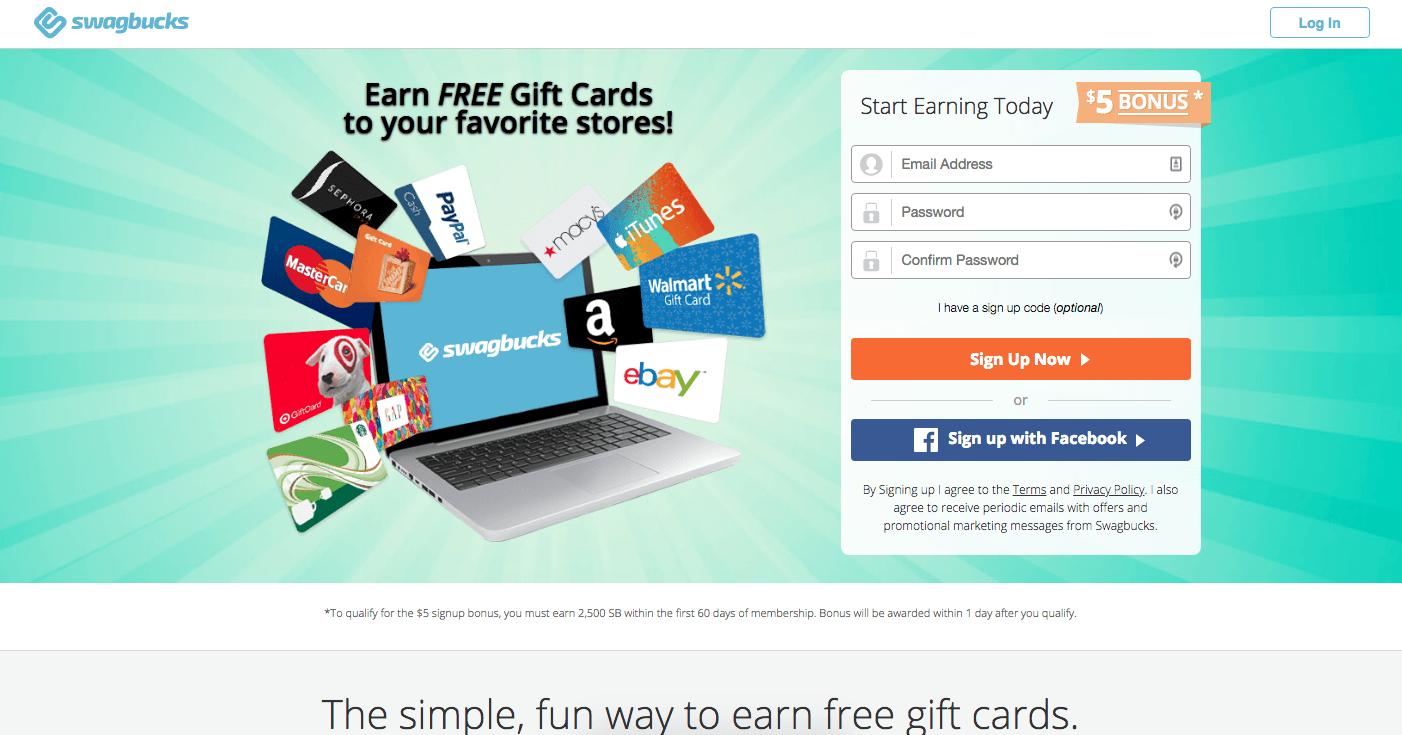$5 Swagbucks Sign-Up Code Promo Bonus